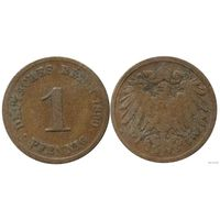 YS: Германия, Рейх, 1 пфенниг 1890D, KM# 10  (1)