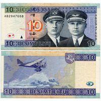 Литва. 10 лит (образца 2007 года, P68) [серия AB]