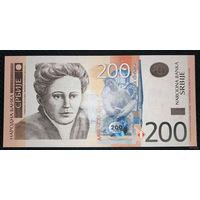 РАСПРОДАЖА С 1 РУБЛЯ!!! Сербия 200 динаров 2013 год UNC