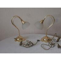Лампа латунная тяжелая Wofi - Leuchten GmbH Германия 2 штуки.