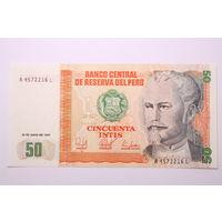 Перу, 50 интис 1987 год, UNC