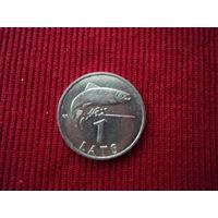 Монета 1 лат,2007 года