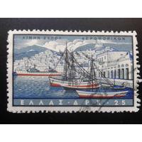 Греция 1958 корабли в порту