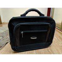Портфель-сумка Rion черная, оригинальная. Б/у