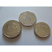 Малави. набор 3 монеты 1, 5, 10 квача 2012 - 2013 год