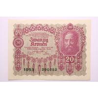 Австрия, 20 крон 1922 год,  UNC-
