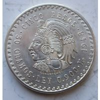 Мексика, 5 песо, 1948, серебро