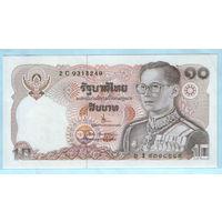 """Тайланд  10 бат 1980г. (Без обозначения года) """"Король Рама IX в маршальском мундире"""". UNC ПРЕСС . распродажа"""