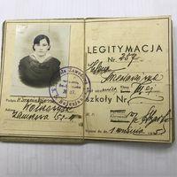 LEGITYMACJA Szkola Zawodowa S.S.Salezjanek.Wilno.1935r.