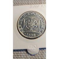 Сан Томе и Принсипи 10 эскудо 1939 серебро