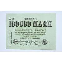 Германия, 100000 Марок 1923 год, aUNC