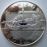 Канада. 1 доллар 1984. Серебро. 372
