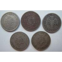Мозамбик 2,5 эскудо 1952, 1953, 1954, 1955, 1965 гг. Цена за 1 шт. (gl)