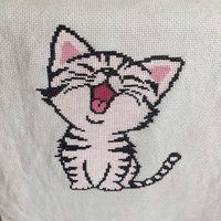 Вышивка крестиком Котёнок