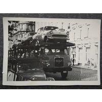 "Автовоз ""MAN"" на улицах города. Фото 1960-х? 9х13 см."