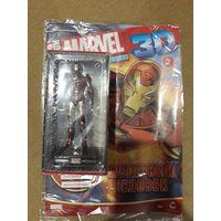 Герои Marvel 3D номер 2 - Железный человек + ретро-плакат+журнал