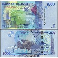 Уганда 2000 шиллингов образца 2017 года UNC p50d
