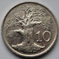 Зимбабве, 10 центов 1997 г