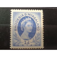 Родезия и Ньясаленд 1954 колония Англии Королева Елизавета 2**