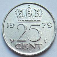 Нидерланды 25 центов 1979 г
