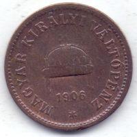 Австро-Венгрия, 2 филлера 1906 года