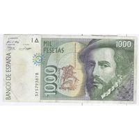 Испания 1000 песет 1992 г.