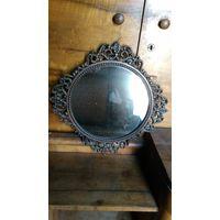 Зеркало ссср, металлическая оправа
