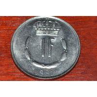 Люксембург 1 франк 1981