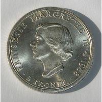Дания 2 Кроны 1958 Серебро (2)