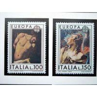 Италия 1975 (Ми-1489-90) Европа-СЕПТ живопись**