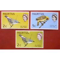 Маврикий. Птицы. ( 3 марки ).