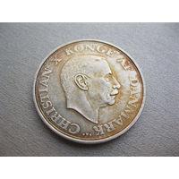 Дания. 2 кроны 1937 г. 25 лет правления. Кристиан X.