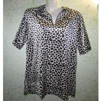 Блузка/рубашка/футболка леопардовая, р.XL