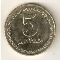 Таджикистан 5 дирам 2019