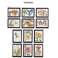 Суринам-1983,(Мих.1005-1016) **  ,Цветы