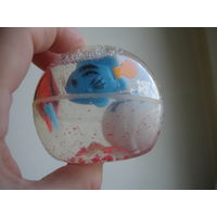 Сувенир Плавающие рыбки в гелевом шарике со звездочками