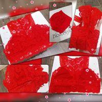 Красный бюстгальтер - браллет - топ