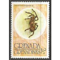 Гренада Гренадины. Паук-птицеед. 1976г. Mi#150.