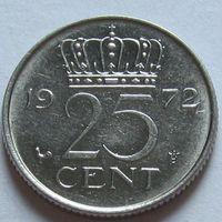 Нидерланды 25 центов 1972 г