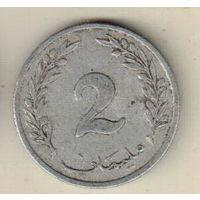 Тунис 2 миллим 1960