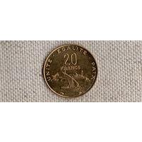 Джибути 20 франков 1996(Li)