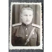 Фото офицера. 1955 г. 6х8 см