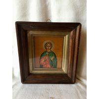 Икона в киоте. Святой Анатолий