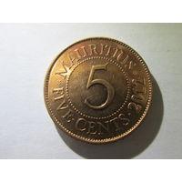 Маврикий 5 центов 2012 г. Распродажа