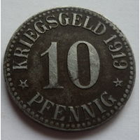 Германия. 10пфеннигов 1919г.CASSEL