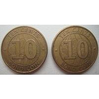 Зимбабве 10 центов 2014 г. Цена за 1 шт.