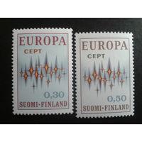 Финляндия 1972 Европа полная