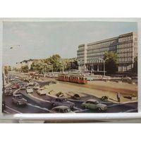 Старая открытка. Варшава. Автомобили.