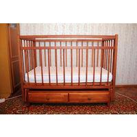 Детская кроватка-качалка с матрасом