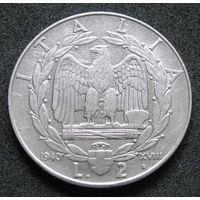 Италия 2 лиры 1940 немагнетик